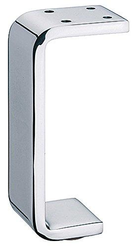 Gedotec Design Möbelfuß Chrom poliert Metall Schrankfuß PREMIUM für Holz-Schränke - Möbel & Küche - H8050   Höhe 150 mm   Tischbein mit Filzgleiter   1 Stück - Kommoden-Fuß für schwere Couch & Sofas