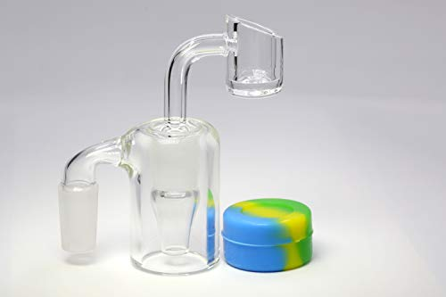 14mm Glass Ash Collector with Silicone Container,with 90 Degree Bowl