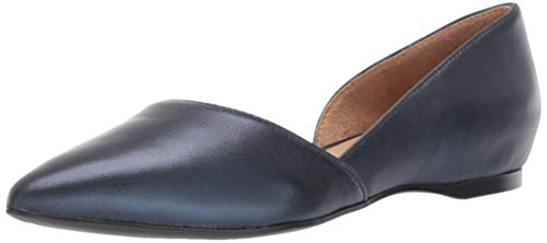 Naturalizer Women's Samantha Pointed Toe Flat, Navy Metallic, 9 W US