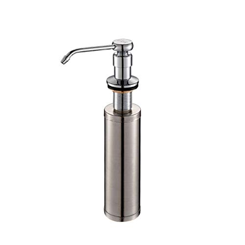 Tingting1992 Dispensador de jabón Dispensador de Jabón Fregadero de Cocina Con Detergente Botella Detergente 304 Acero Inoxidable Dispensador de Jabón Líquido Dispensador de Jabón de Mano