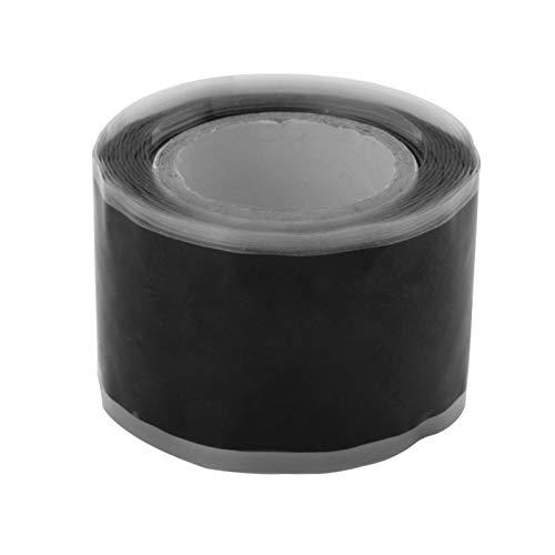 Schwarzes Selbstfließendes Silikondichtband, Selbstklebendes Hochdruckband, Reparaturband für Gartenwasserleitungen, Mehrzweckreparaturband