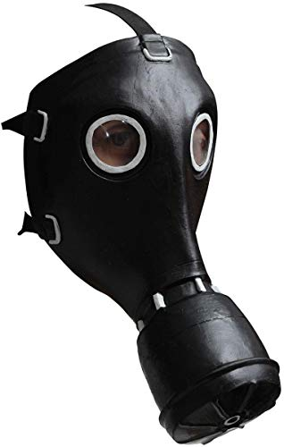 GHOULISH Gasmaske GP-5 Schwarze Latex