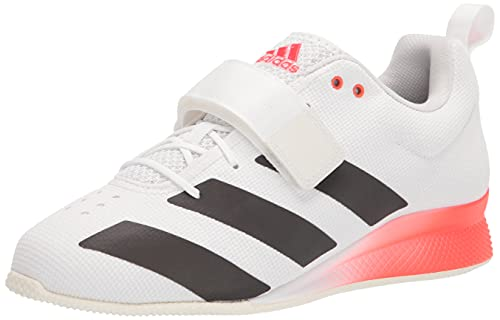 adidas Men's Adipower Weightlifting II Track and Field Shoe, White/Black/Solar Red, 9.5