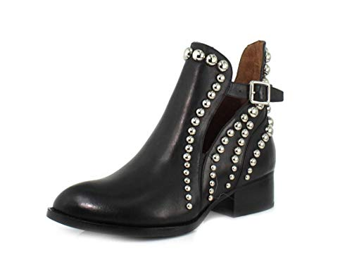 Jeffrey Campbell Womens Rylance-ST Black Silver Boot - 9.5