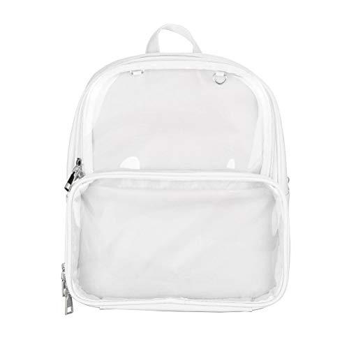 TENDYCOCO Rucksack Transparent Bookbag Ita Bag Klar Schultasche Wasserdicht für Frauen Mädchen