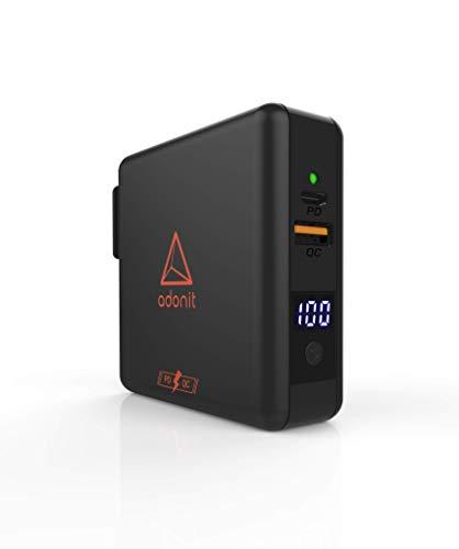 Adonit kabellose Qi Wireless Charging Powerbank mit Reiseadapter (z.B. iPhone SE 2020 / 11 / Pro Max, Samsung S20, uvm.) [6700mAh, internationalen Adapter-Set für EU, UK, US, AU und Asien]