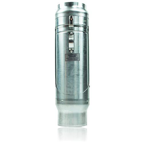 Zink Laubfänger 100 mm mit großem Edelstahl Laubfangkorb für Regenrohre - Titanzink Design Laubfangvorrichtung für maximalen Laubfang - Laubfalle DN 100 zum nachträglichen Einbau in das Ablaufrohr
