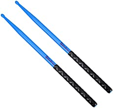 5A Nylon Drumsticks for Drum Set Light Durable Plastic Exercise ANTI-SLIP Handles Drum Sticks for Kids Adults Musical Instrument Percussion Accessories Blue