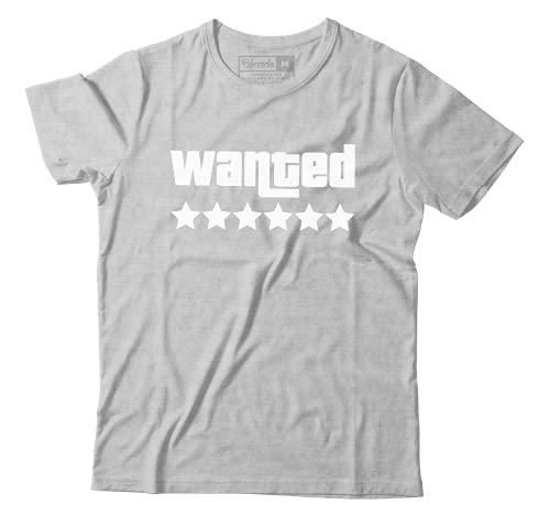 Camiseta Gta Wanted 6 Estrelas San Andreas GTA Online Camisa Games (M)
