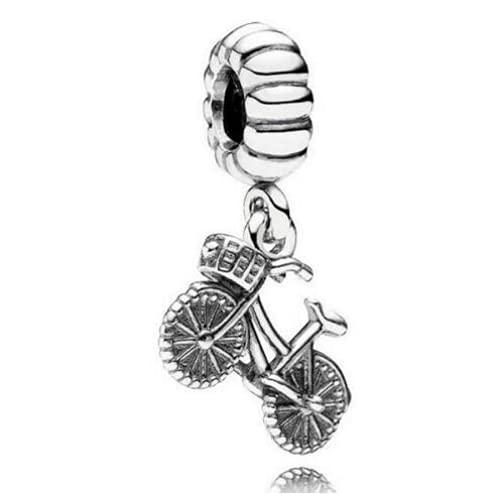 ZHANGCHEN 925 Sterling Silber Perle Fahrrad Perlen Charme Anhänger Passform Original Frauen Auflauf Armband & Halskette DIY Schmuck