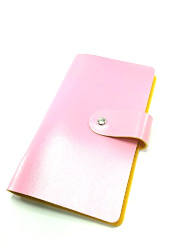 Happy Spring カードファイル カードケース 96枚収納 大容量 レディース メンズ (ピンク)