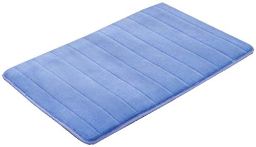 YIQI Alfombras de baño, Alfombra de baño Suave Alfombra de baño (40x60 cm, Azul)