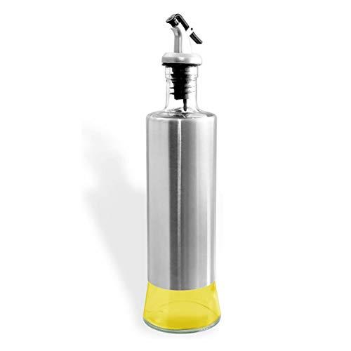 オイルボトル ガラス オイルポット 油容器 調味料 容器 醤油ボトル/酢ボトル ドレ/オイルポット/ッシングボトル/漏れ防止 キッチン用品 (300ML×1)