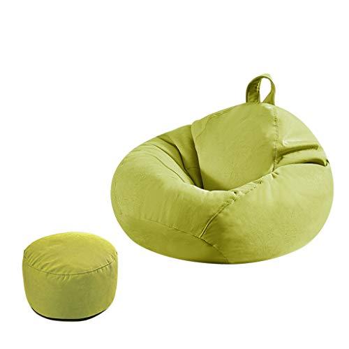 SD Grande Fauteuil Bean Bag Chaise Pouf Poire avec Repose-Pied avec Mousse Ultra Confortable avec Poignée pour Enfants Et Adultes 90 * 100 Cm