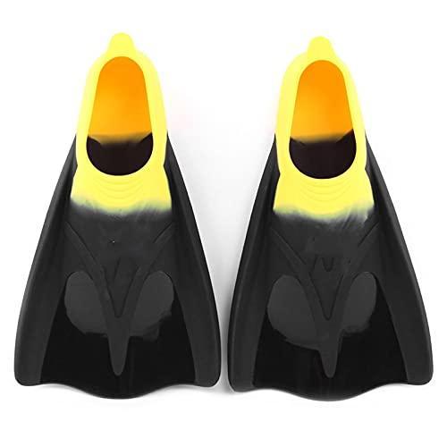 GDYJP Adultos Aletas de Buceo Full Pie Luppers Cerrar Tacón Entrenamiento Natación Snorkeling Scuba Foot Pocket Fin Hombres Mujeres (Color : Yellow, Tamaño : 36-38)