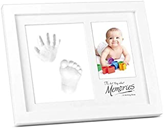 Baby Handprint Kit & Footprint Kit Clay Picture Frame for Newborn Hand Foot Impression Photo Keepsake Best Shower Gifts fo...