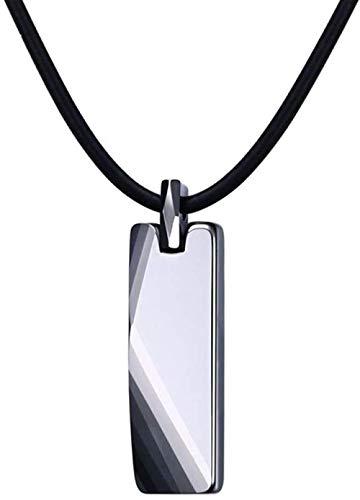niuziyanfa Co.,ltd Don't Scratch Collares y Colgantes de Metal de tungsteno Real Joyas para Hombres 20 Cadena