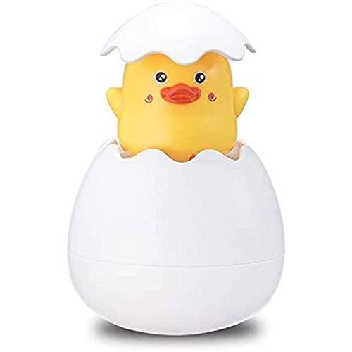 FASZFSAF Juguete Baño para Bebé, Huevo Pascua Juguete Rociador Natación Bebé, Divertido Aerosol Incubar Huevos Bañera Agua Juguetes Piscina PingüIno, Adecuado para Niños,Little Yellow Duck,87g