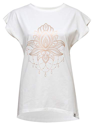 Yogistar Yoga-T-Shirt Batwing Celestial Flower - Ivory/Copper M