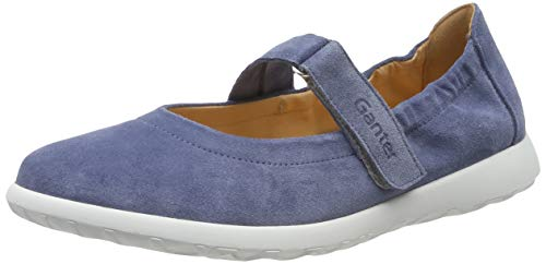 Ganter Damen Gabby-G Geschlossene Ballerinas, Blau (Jeans 34000), 38 EU