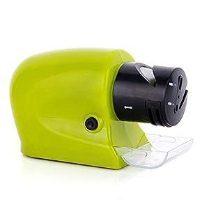 Poxcap Afilador de cuchillos Afiladores de cortadores eléctricos Afiladora automática Piedra de afilar multifuncional Tijeras de pulir Herramienta de corte Destornillador Accesorio de cocina