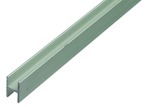 GAH-Alberts 473914 H-Profil   Aluminium, silberfarbig eloxiert   1000 x 9,1 x 12 mm