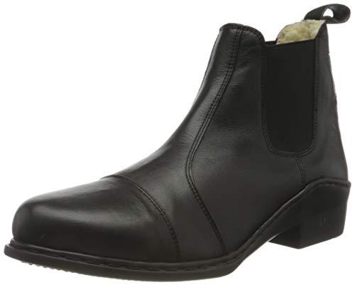 HKM Erwachsene Stiefeletten -SoftyTeddyfutter- mit Elastikeinsatz9100 schwarz40 Hose, 9100 schwarz, 40