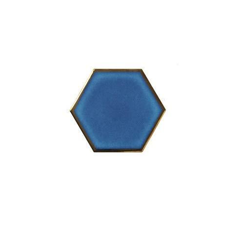 LiuliuBull L 1 PC Hexágono nórdico Hexagonal Placemat de cerámica Placemat Aislamiento de Calor Matetas de Porcelana Pads Decoración de la Mesa (Color : A)