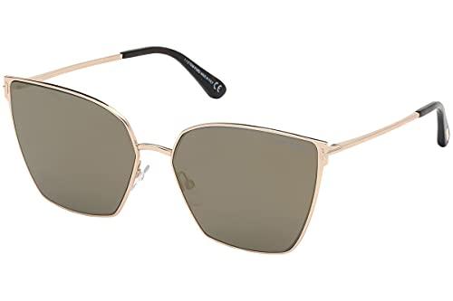 Tom Ford FT0653 28C Shiny Rose Gold Helena Cats Eyes Sunglasses Lens Category 3
