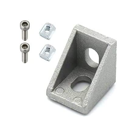 3D Innovations T Slot 2020 Aluminum Profile L-Shape Interior Inside Corner Connector Joint Bracket 2020 Series Slot 6mm for Aluminum Extrusion Profile (with screws) (Qty: 4pcs) (Corner Bracket: 2017)