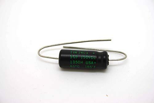 4 piezas Sprague Atom condensadores electrolíticos 5uF 150V