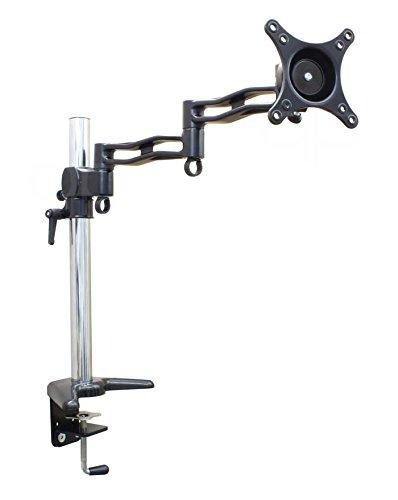 quipma 601, Tischhalterung für Monitore, einarmig, flexibel schwenkbar, höhenverstellbar, 13-29 Zoll, 10kg Traglast