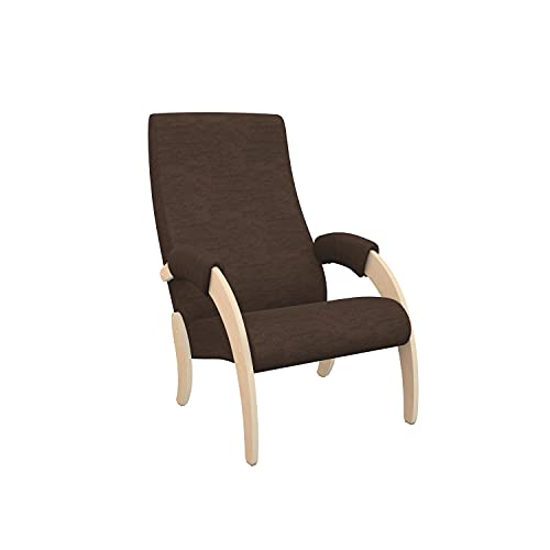HYPE Chairs Relaxsessel/Sessel Madison Braun Naturholz, 928435
