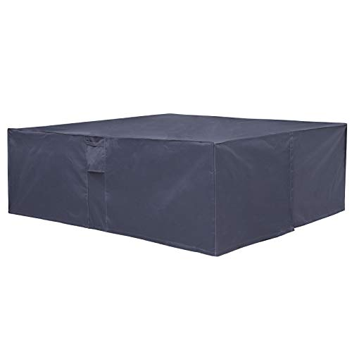 SONGMICS 600D Oxford Funda Protectora para Muebles de jardín, 240 x 140 x 90 cm, para Mesas y Sillas de Patio, Cubierta Protectora Exterior, Impermeable, Rectangular, Gris GFC93G