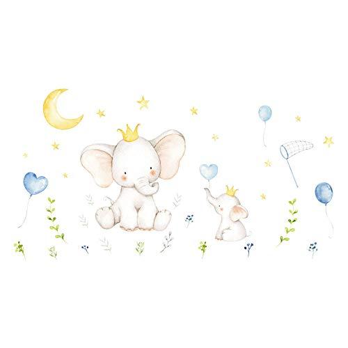 Etiqueta engomada de elefante para la decoración de la pared Niños Animales Lindo Bebé Animal Pegatina Pegatina Etiqueta de Pared Sala de estar Decoración