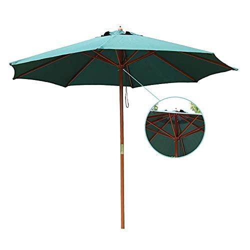 Riyyow Parasol Parasol de 9 pies Parasol Patio Paraguas, Paraguas de Mesa Azul Vibrante con Paraguas de Madera, Tela de poliéster de protección Sol (Size : 2.7m/9ft)