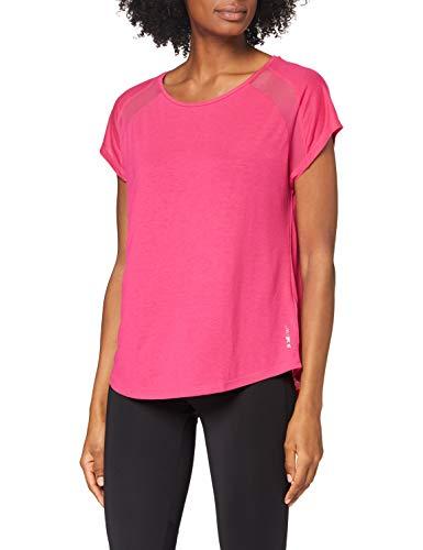 ESPRIT Sports RCS t-Shirt sslv Camisa de Yoga, 660/rosa Fucsia, S para Mujer
