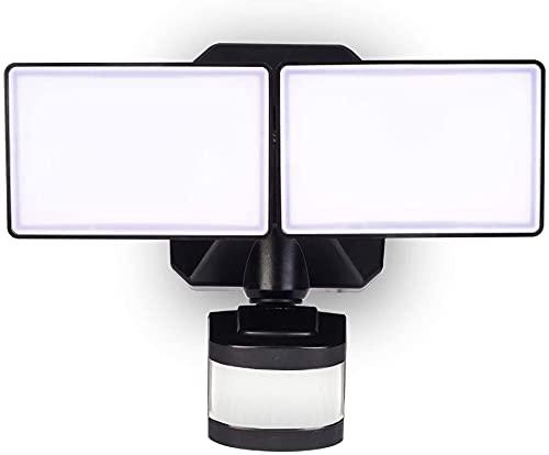 Motion Sensor Dusk to Dawn LED Security Light, Outdoor LED Flood Light 5000K Daylight White for Walkway/Porch/Yard, Motion Detection Wall Light ETL Approved 120V, EMANER