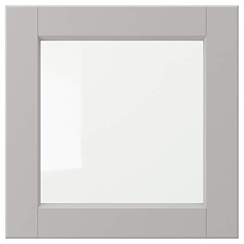 LERHYTTAN glasdörr 40 x 40 cm ljusgrå