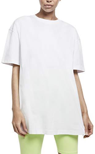 Urban Classics Ladies Oversized Boyfriend tee Camiseta, Blanco, XS para Mujer