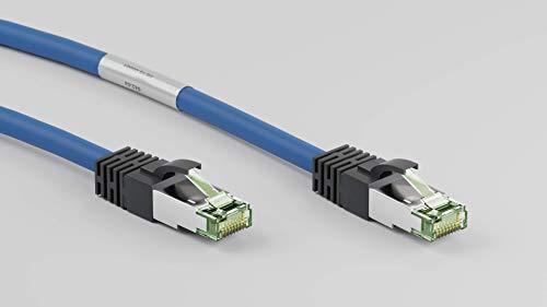 Goobay 45660 CAT 8.1 Patchkabel, Netzwerkkabel, Ethernet, Playstation, Xbox, LAN-Kabel, DSL, Highspeed, RJ45 Stecker, blau, 2 Meter
