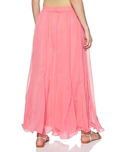 Shararat Women's Georgette palazzo Readymade Garment (3521_ Light Pink_ Free Size)