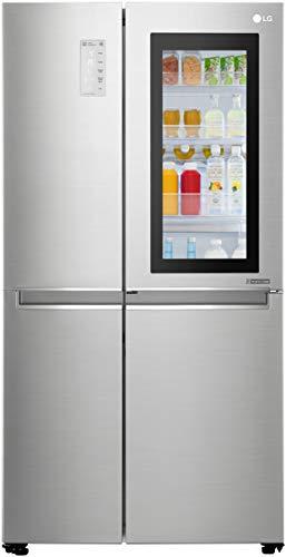LG 687 L InstaView Door-in-Door inverter linear Side-by-Side Refrigerator (GC-Q247CSBV, Noble Steel, LG ThinQ)