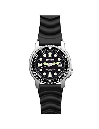 Reloj Hombre de Buceo beuchat Hombre lumitech Negro–beu0515/1