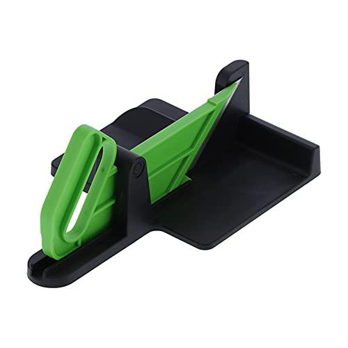 Tagliaverdure, trituratore di verdure in acciaio inossidabile + plastica per cucina per uso domestico(Nero verde)