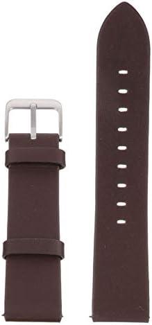Baluue Horlogeband van leer reserveband verstelbaar snelsluiting met metalen gesp compatibel met Huawei Gt12 Honor Magics zwart 22 mm