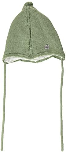 Sterntaler Strickmütze Pur Wolle Zipfli Sombrero, Grün, 43 para Bebés