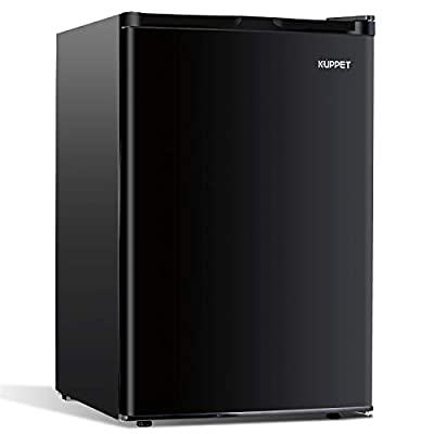 Kuppet-Mini Refrigerator Compact Refrigerator-Small Drink Food Storage Machine for Dorm, Garage, Camper, Basement or Office, Single Door Mini Fridge, 4.5 Cu.Ft,Black