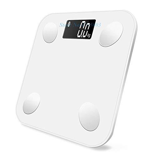 Báscula 2019 Báscula de peso inteligente Pesas científicas Pesas Báscula de grasa corporal Baño Balanza digital Conectar básculas de pesaje Aplicación Bluetooth Báscula de Baño