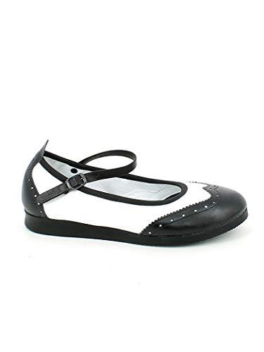 ANNIEL Boogie Schuhe aus Leder, Weiß/Schwarz, Weiß - Bianco - Größe: 36 EU